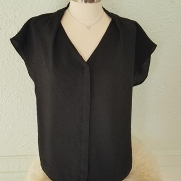 8d80bb814435 COS Tops | Black V Neck Button Down Blouse Size 8 Nwot | Poshmark